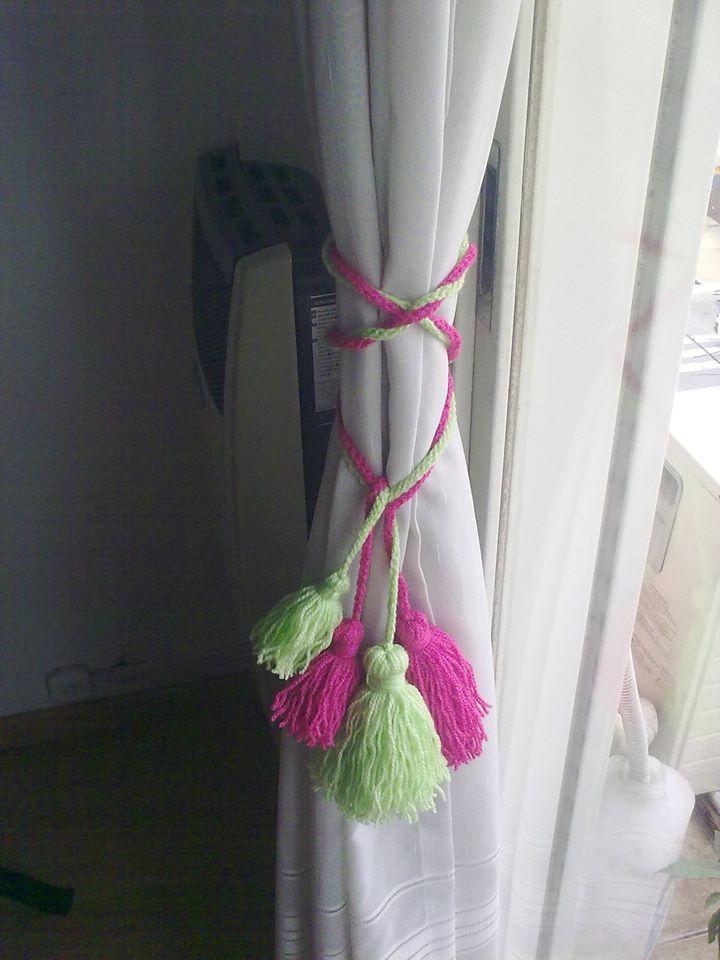 Borlas sujetador de cortinas, decoracion Sujetador de Cortina