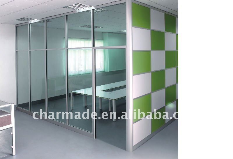 V84 Series Used Office Wall Partitions Clear Glass Partition