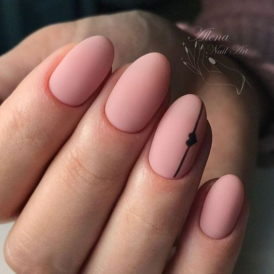www.ngenstyle.com/new-easy-nail-art-designs-for-short-nails-2018/ #heart
