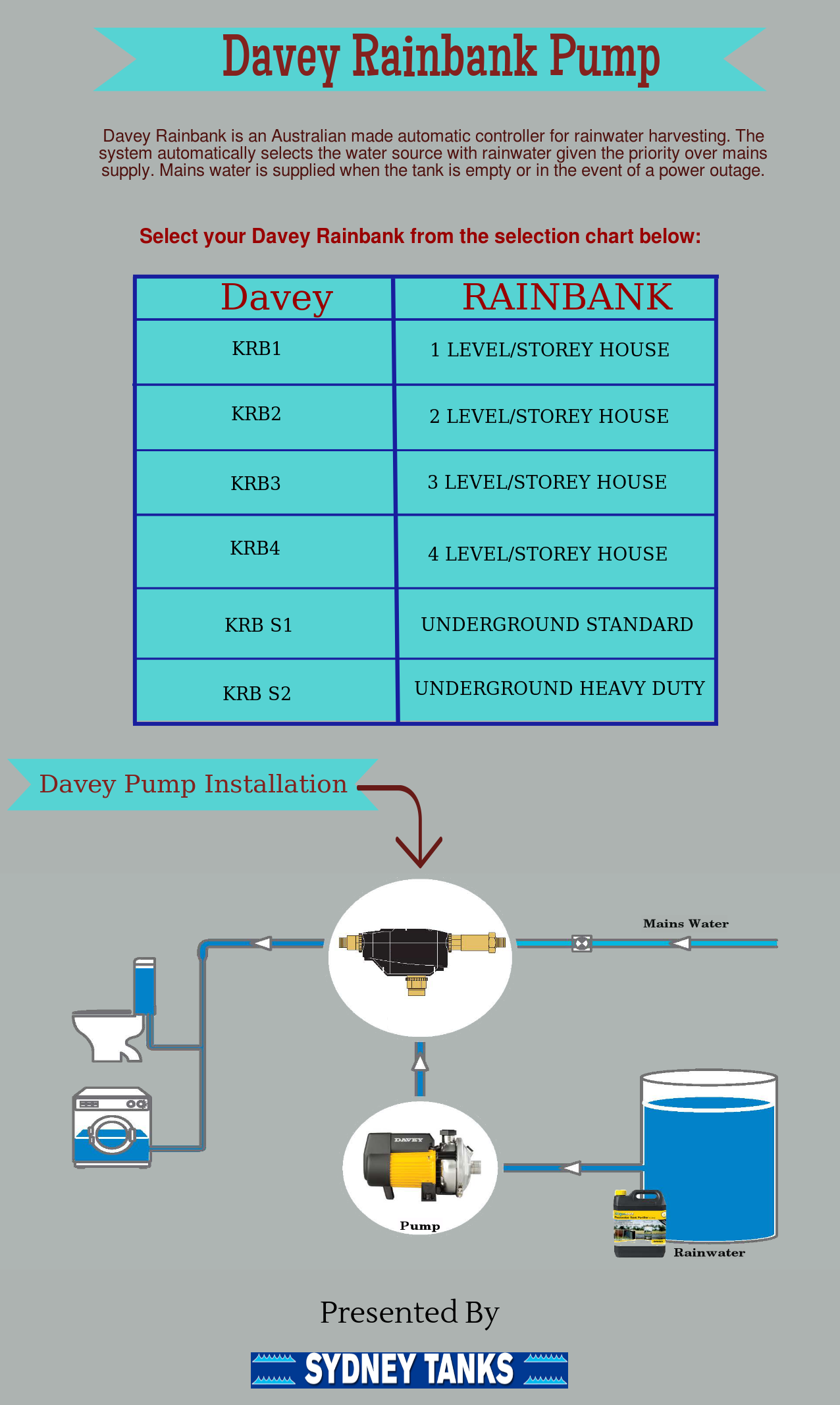 Davey Rainbank Pump Are Popular In Australia It Is Used For Rainwater Harvesting This Pump Is Extremely Easy Rain Water Tank Water Tank Rainwater Harvesting