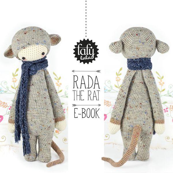 RADA le rat • lalylala patron au crochet | Rats, Amigurumi and Pdf