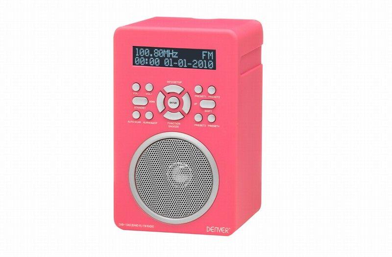 Terris Küchenradio ~ Denver dab 43plus pink incl. dab portable dab empfänger