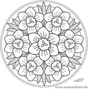 Mandala Mandala Para Pintar Flores Mandala For Painting Flowers Ausmalbilder Stickmuster Kostenlos Stickereimuster