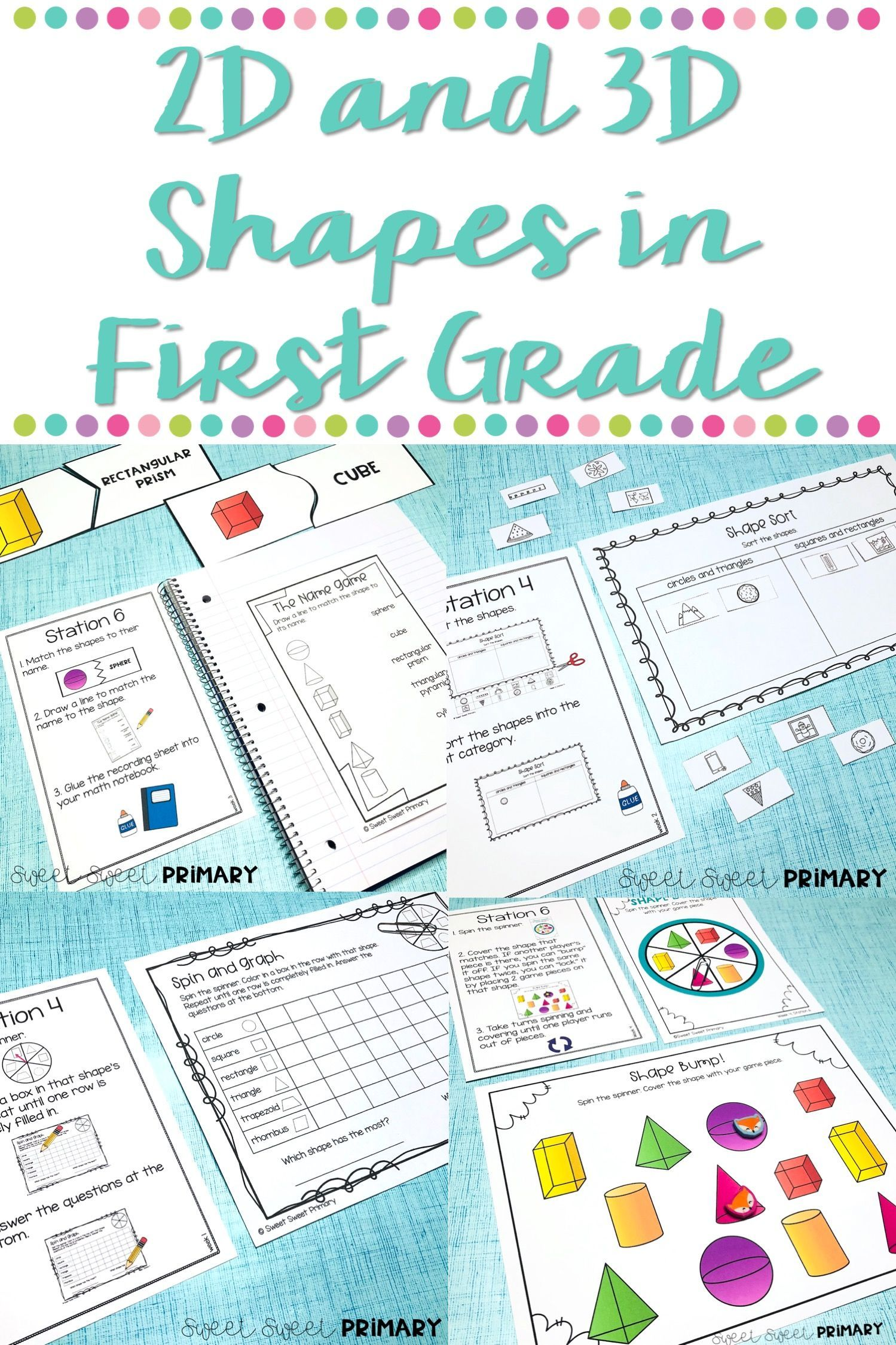 Teaching 2d And 3d Shapes In First Grade