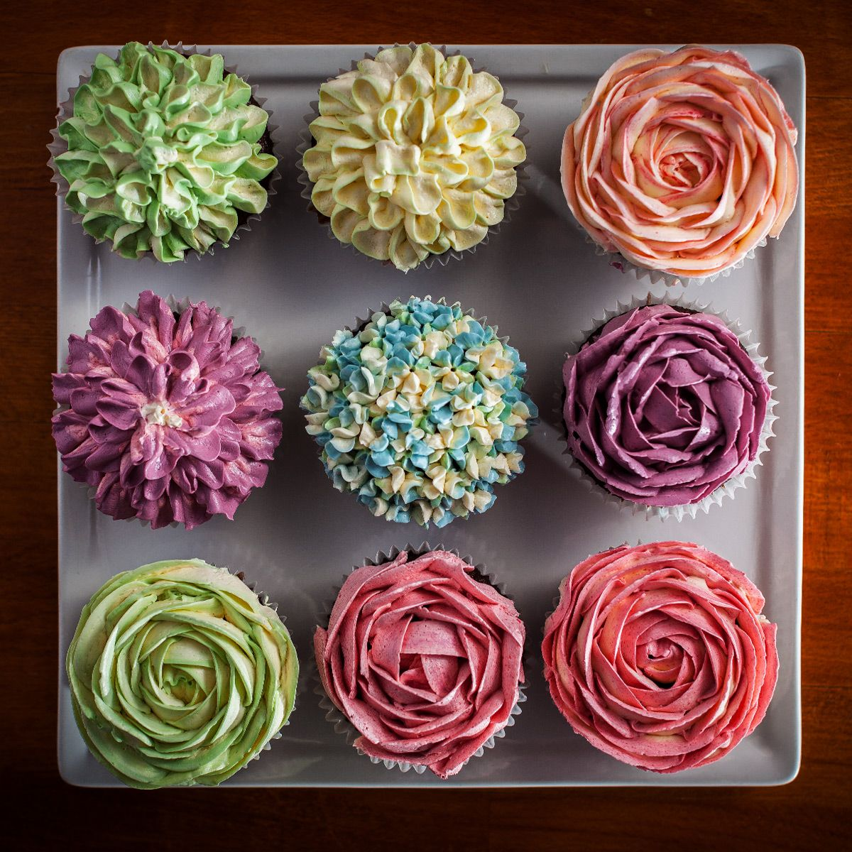 Vegan Flower Cupcakes (With images) Flower cupcakes