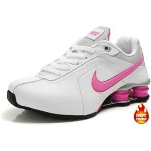 30578356b047 Womens Nike Shox R4 White Pink Black