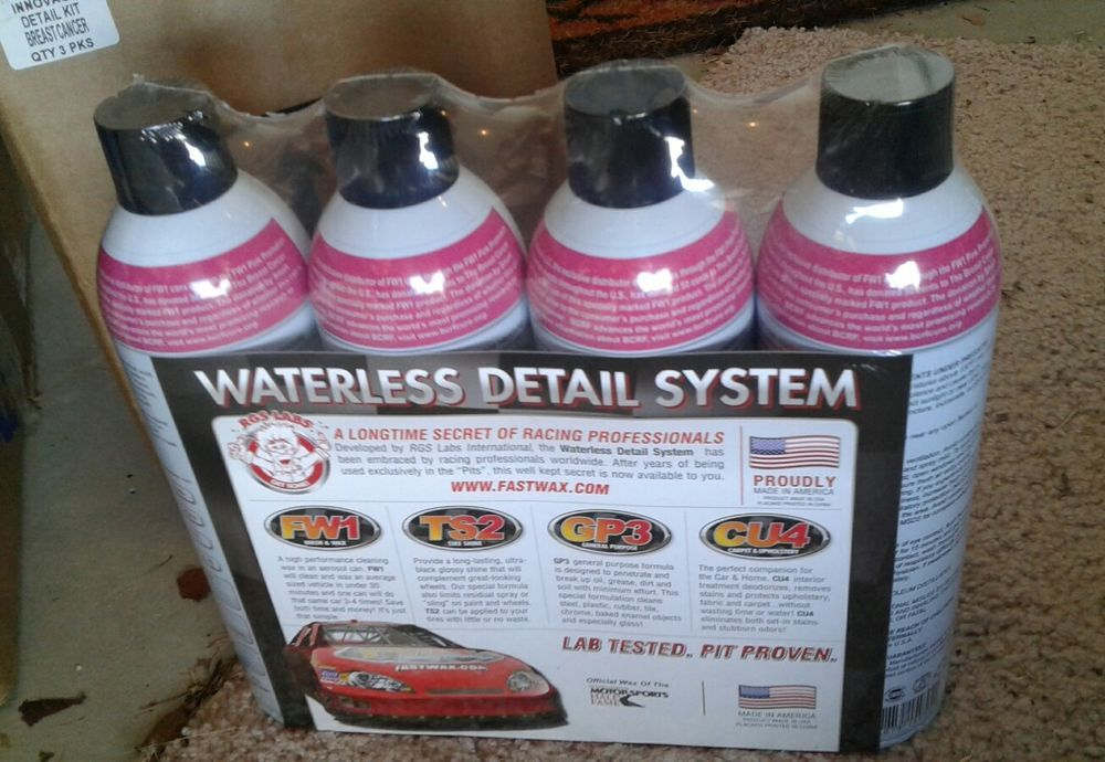 fast wax waterless detail system set kit car wash wax fw1 ts2 gp3