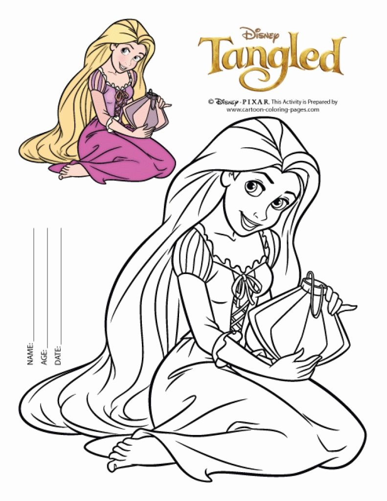 The Blonde Disney Princess Rapunzel Coloring Pages | disney coloring ...