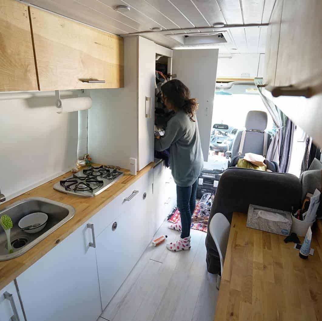 Think you can't live the van life with a baby? Think again. This couple travels in a Sprinter van full-time with a 2-year-old. #thewaywardhome #sprintervan #camper #vanlife #vans #camping #campervan #familytravel