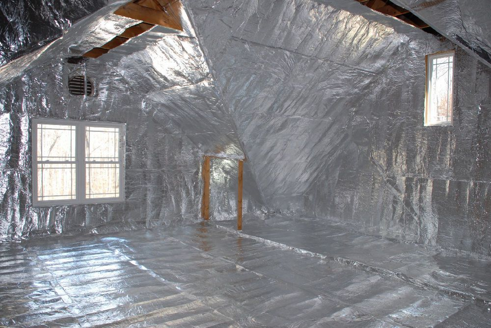 1000 Sqft 2 Rolls Of 4 Feet X 125 Feet Non Perforated Solid Most Orders Leave Within 24 48 Hours Attic Insulation Attic Renovation Radiant Barrier