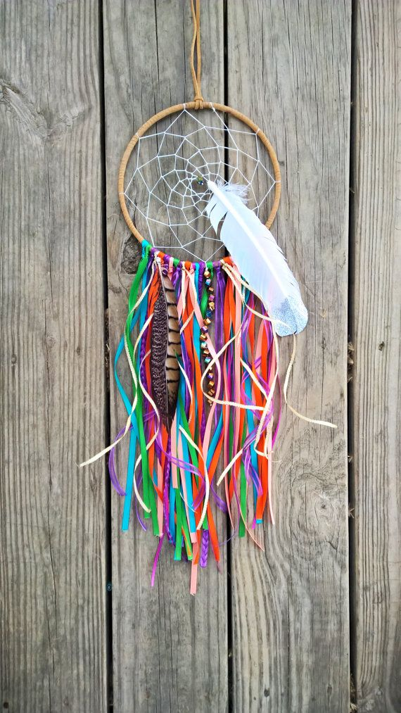 Colorful Dream Catcher  Rainbow Dream by EarlyOwlCreationsLLC