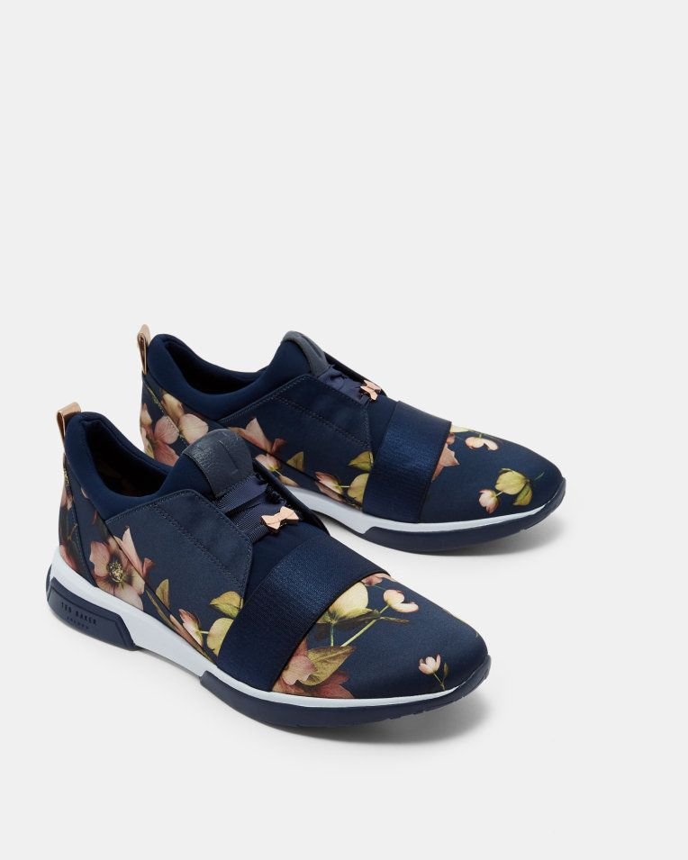 Printed running trainers - Navy | Shoes