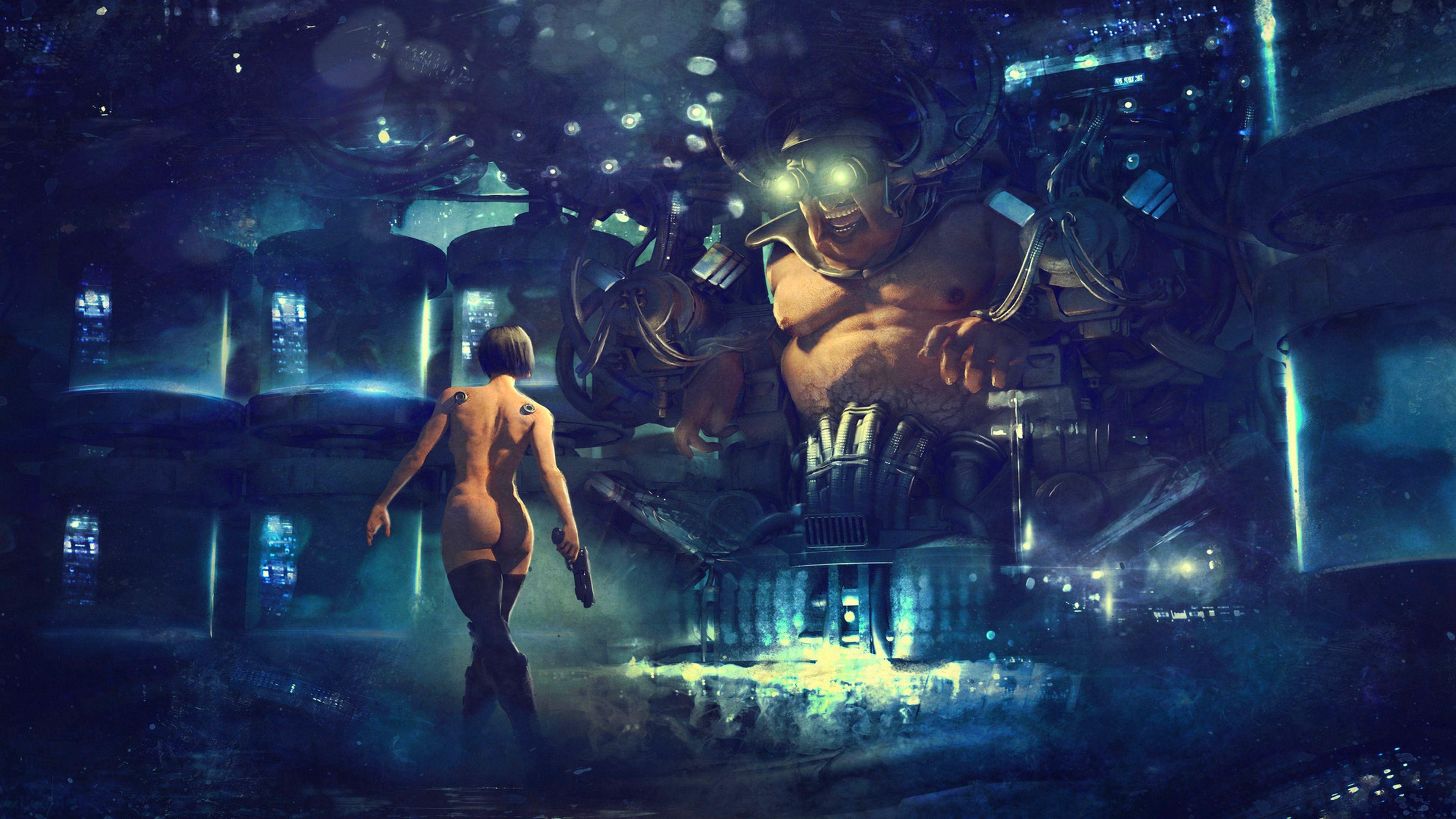 Homoerotic male fantasy art nude