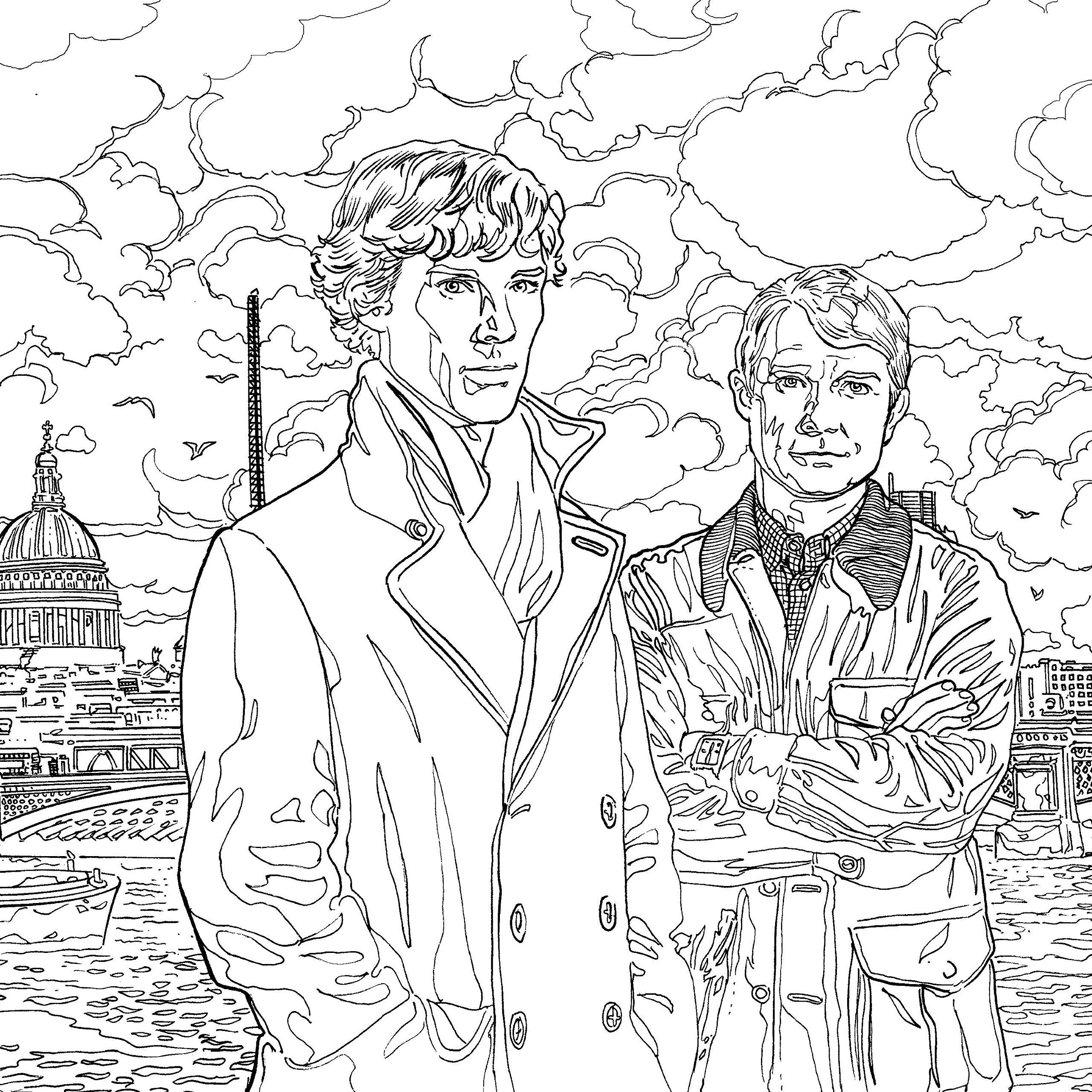 Book Review: Sherlock: The Mind Palace – A Colouring Book Adventure ...