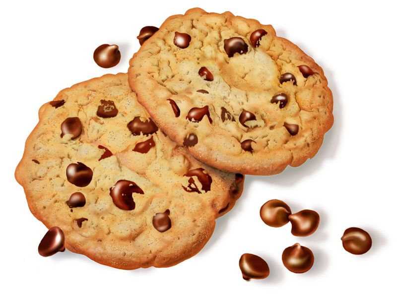 Chocolate Chip Cookie Pencil Drawing Of Chocolate Chip Cookies