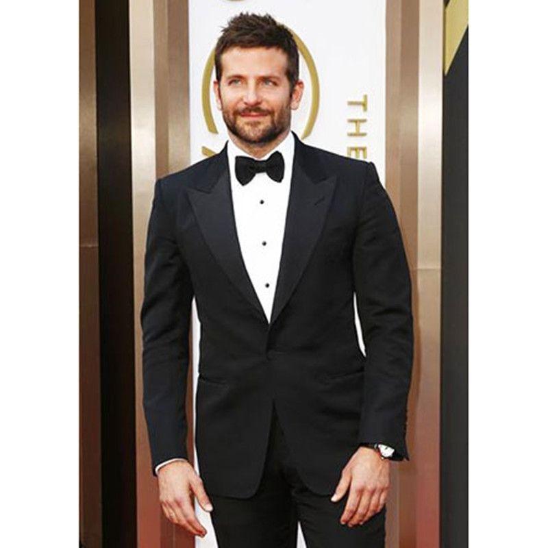 mens tuxedo suits groom wedding suit black custom made formal wear ...