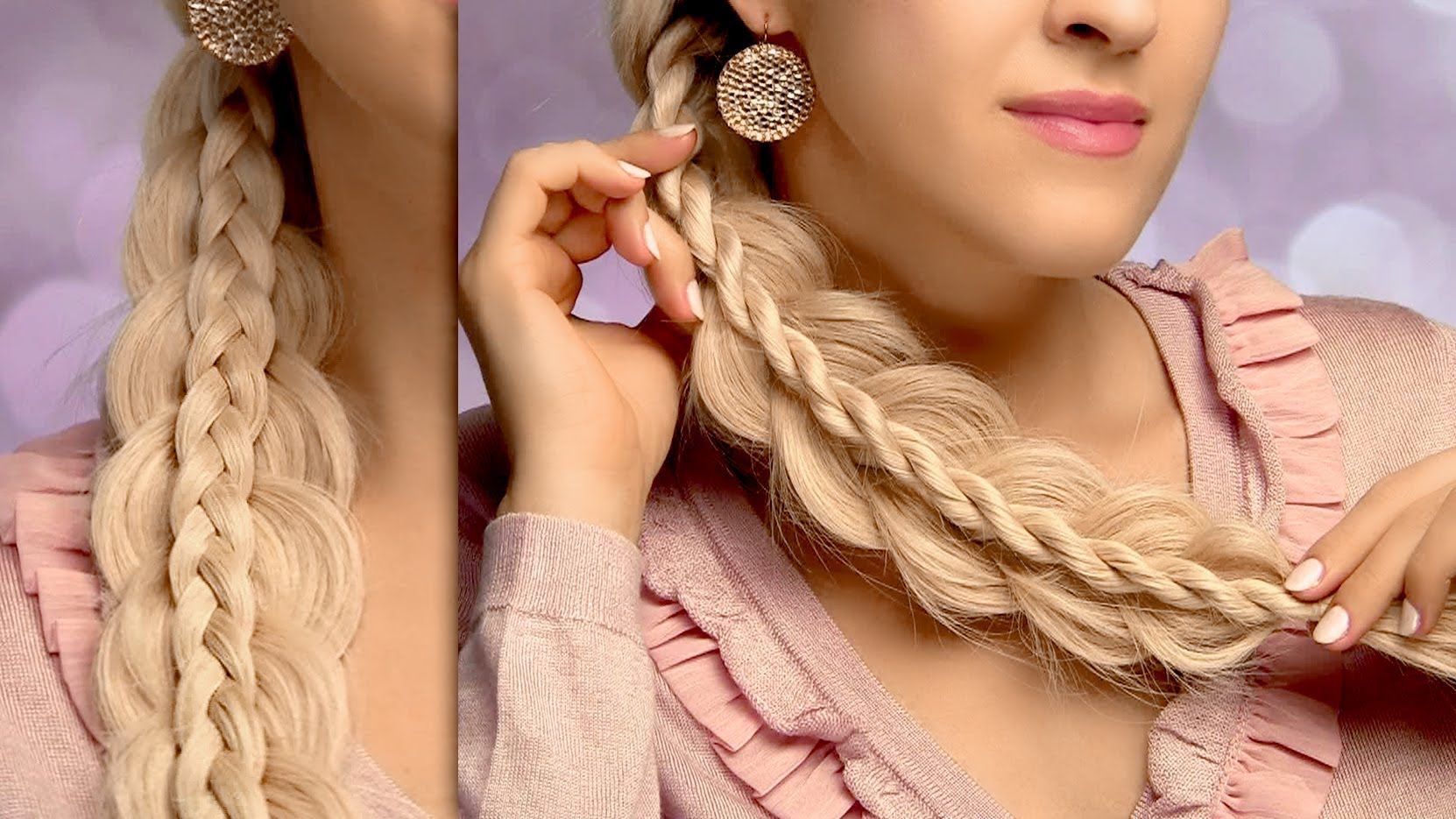 Two easy yet intricate side swept braids cute and easy everyday