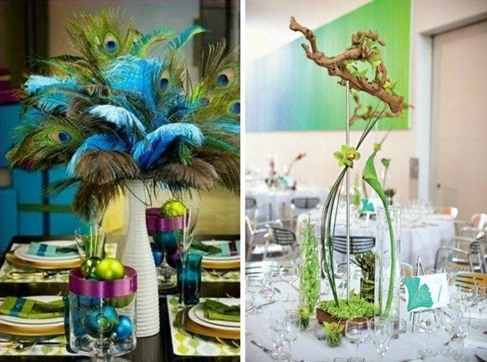 kreative Mittelstücke als Hochzeitsdekor