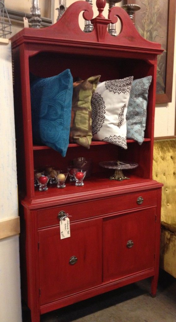 Repurposed Red Hutch