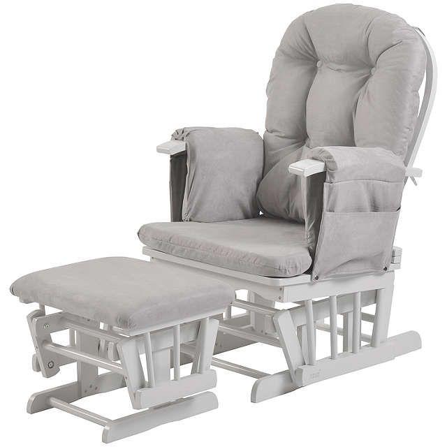 Kub Haywood Reclining Glider Nursing Chair And Footstool Grey Online At Johnlewis