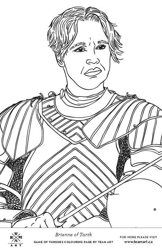 We Made Some Game Of Thrones Colouring Page Freebies Just In Time For The Season 4 Finale Featured Characters And Scenes That Were Not Our Original