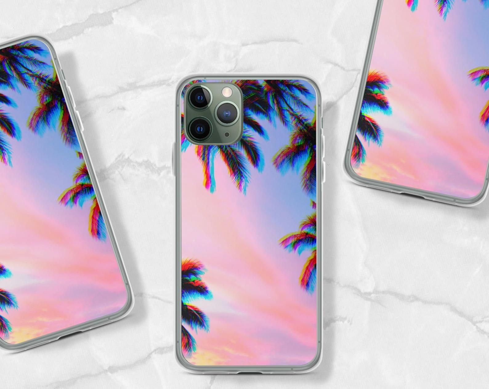 Trippy Palm Tree Phone Case For Iphone 12 Mini 11 Pro Max Xr Etsy Iphone Iphone Cases Phone Cases