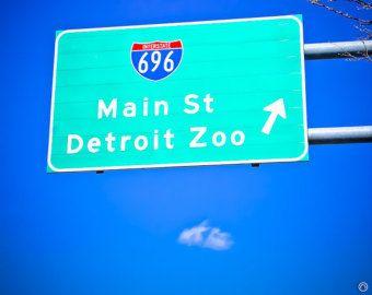 696 Detroit Zoo Sign  8x10 Fine Art Photograph on Metallic Paper