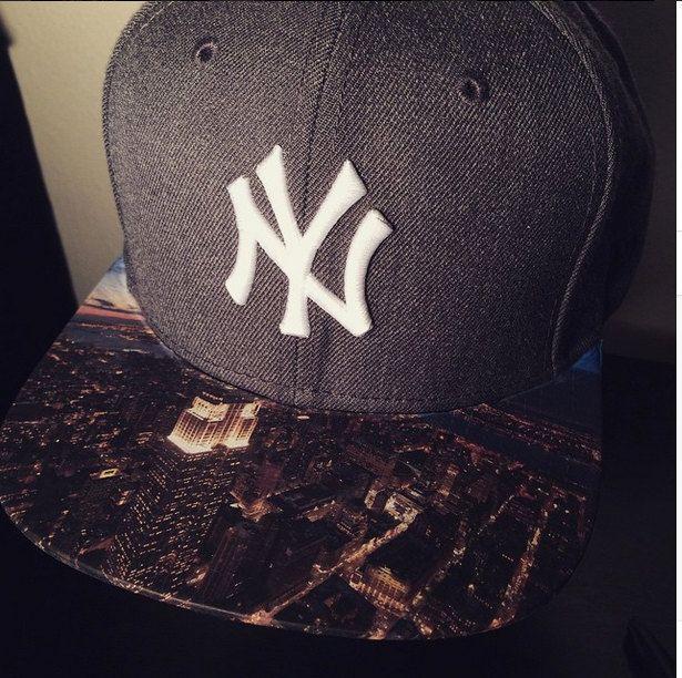 New York Yankees New Era Snapback Hat With Custom Goodfellas Brim New Era Snapback Custom Hats Snapback Hats