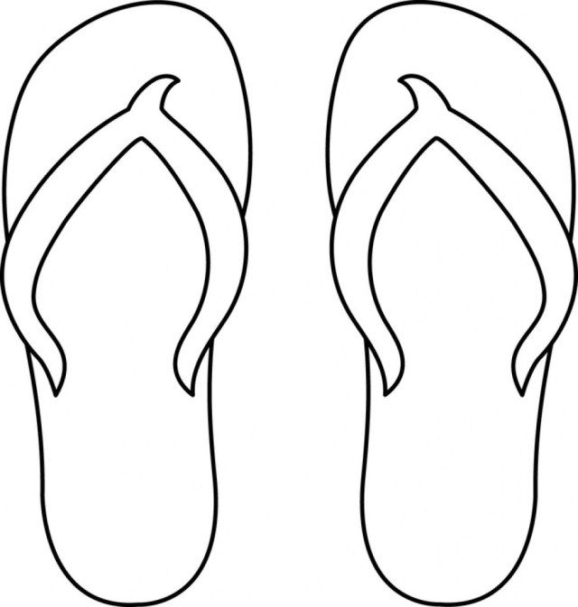Wonderful Photo Of Flip Flop Coloring Pages Entitlementtrap Com Free Clip Art Flip Flop Craft Free Art
