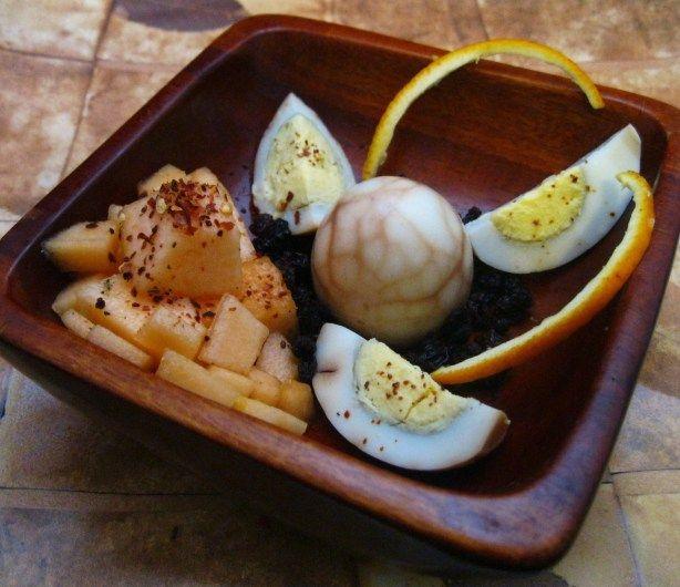 Breakfast Roman Melon And Boiled Tea Eggs Ingredients