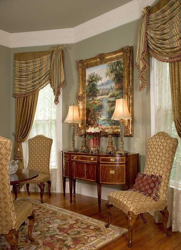 Traditional Victorian Living Room Furniture: I Like The Wall Color And Trim. Remember To Paint The