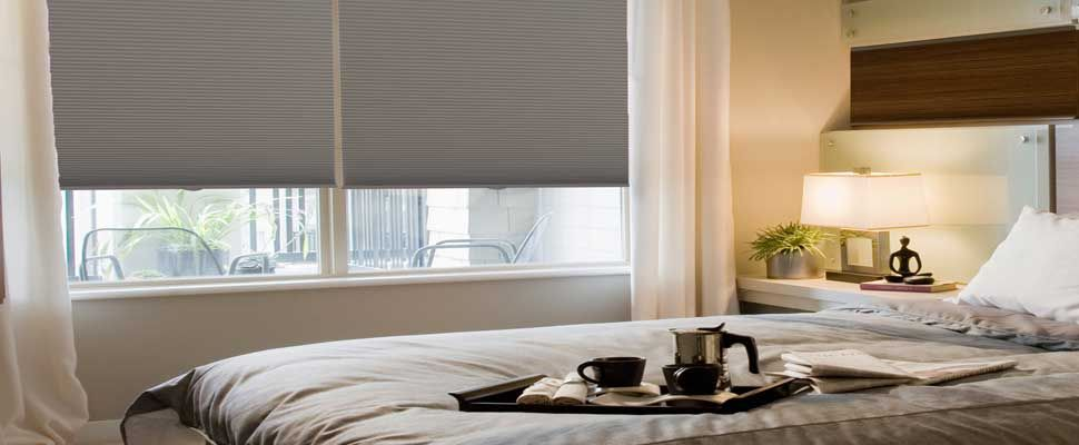 Blackout Cellular Shades for That Elusive Completeness - http://www.zebrablinds.com/blog/blackout-cellular-shades-elusive-completeness/ #HoneyCombShades, #BlackoutCellularShades, #CellularShades, #TopDownBottomUpShades