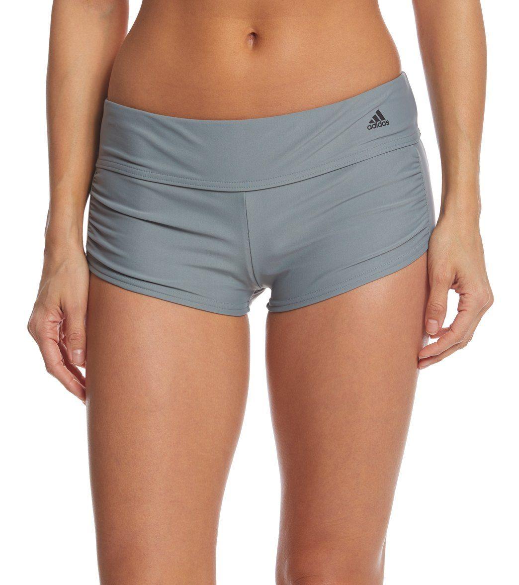 ef2a149b8267b Adidas Women's Shirred Swim Short | Clothes | Adidas women, Swim ...