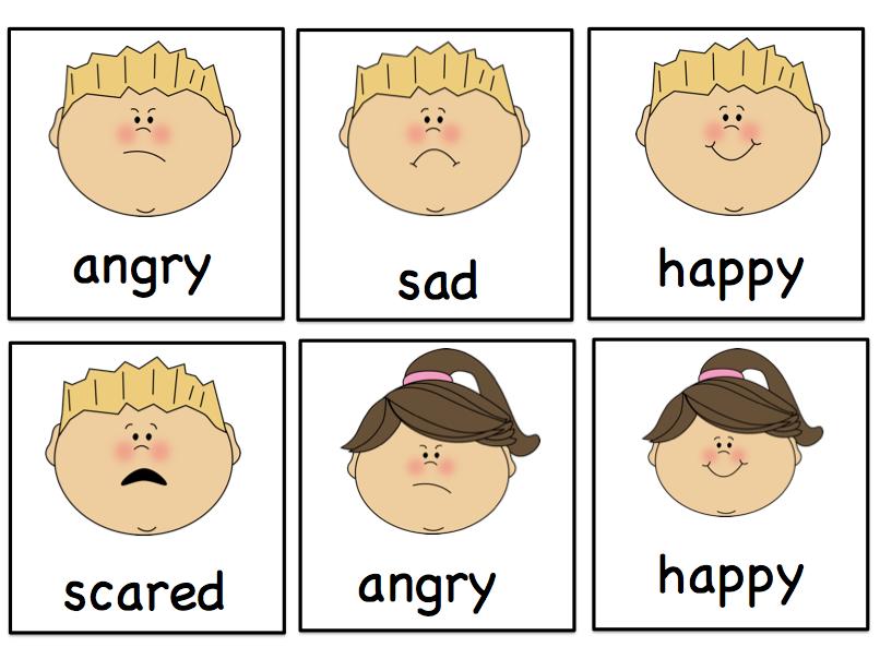 Preschool Printables: Free Emotion Mini Printable