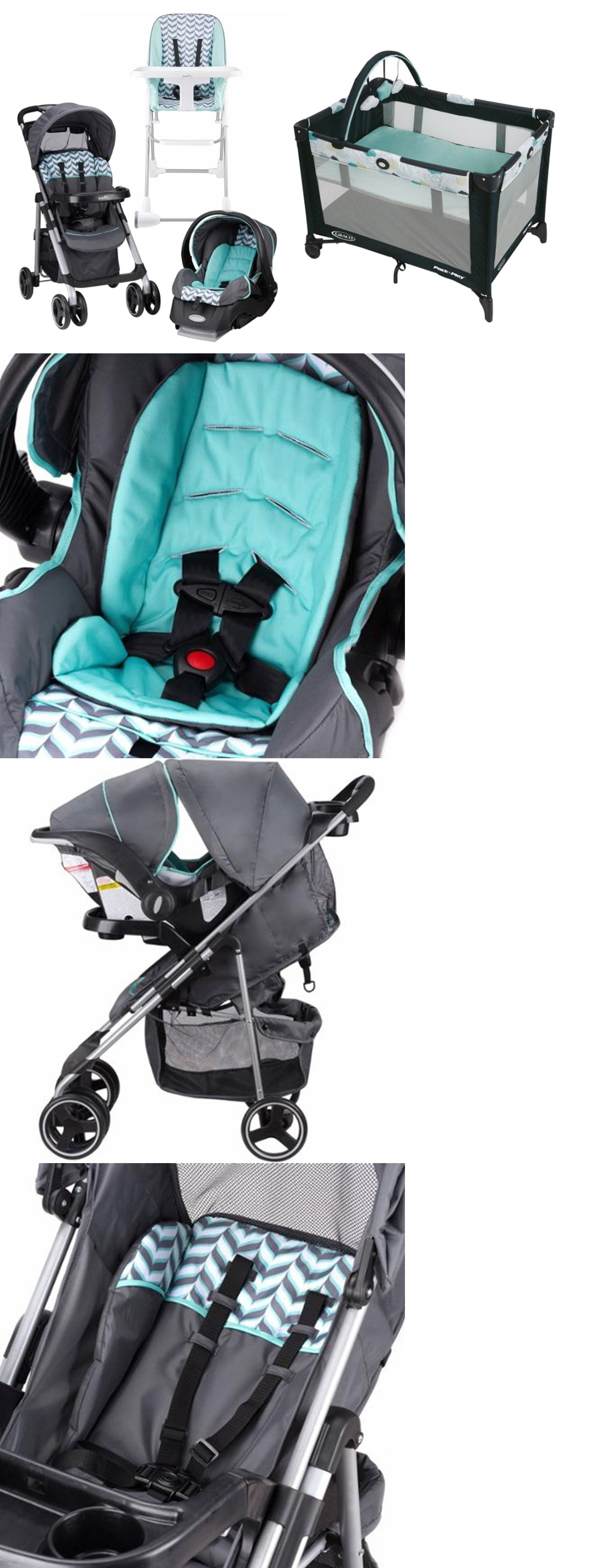 Strollers And Accessories 66698 Baby Stroller Car Seat Infant High Chair Playard Crib Travel System