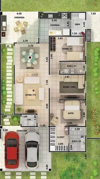 Planta Para Veredas Fachadasdecasaspequenas Dream House Plans House Layout Plans House Layouts