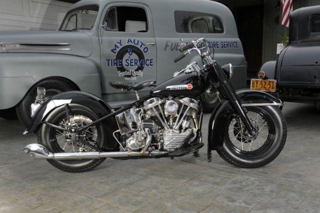 Harley Davidson: 1949 Harley Davidson FL Panhead Knucklehead Show Quality