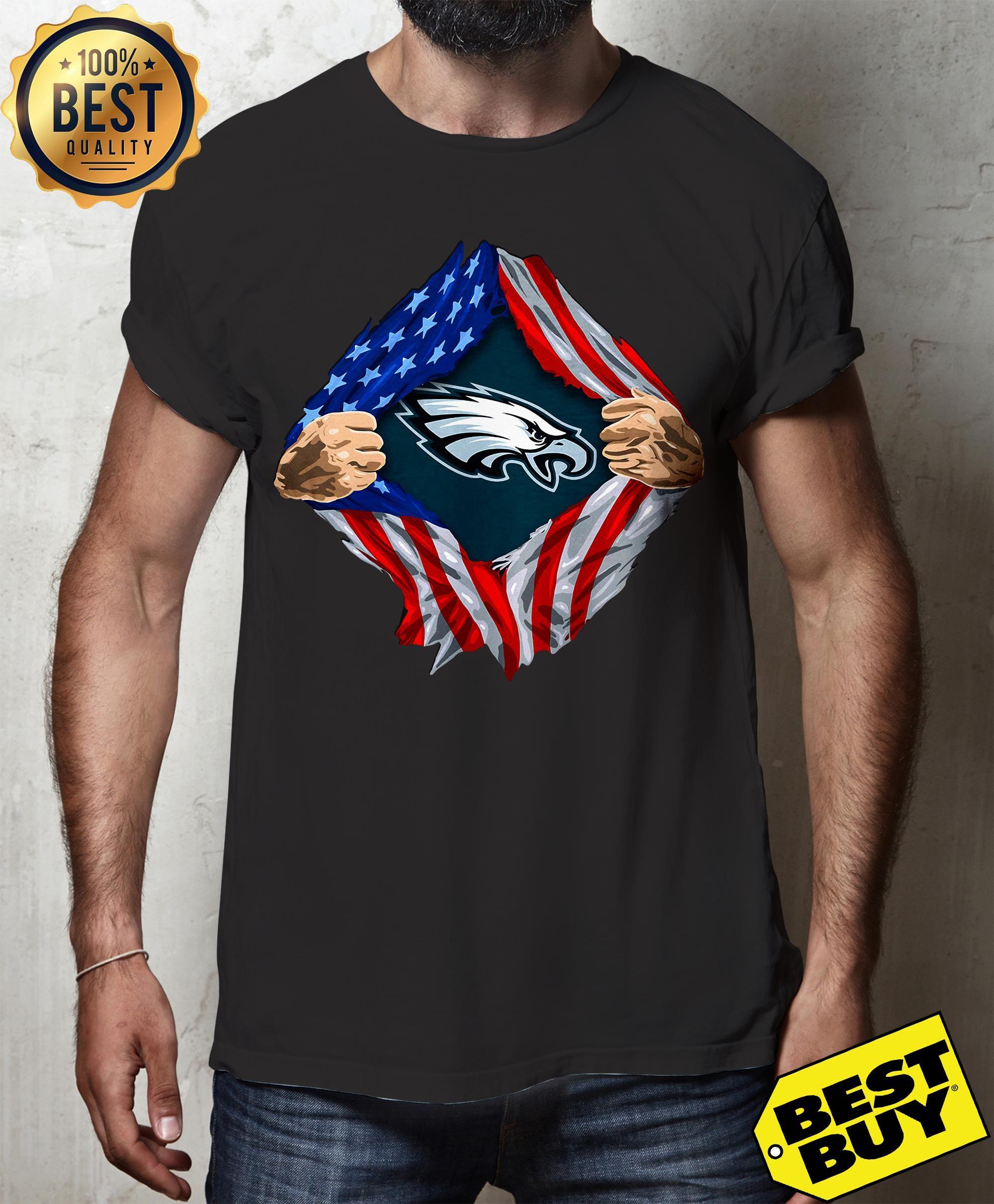 philadelphia eagles flag shirt