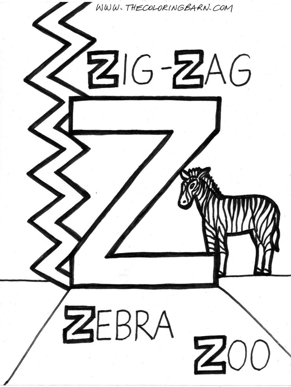 Alphabet Coloring Pages Alphabet Coloring Letter Z [ 1327 x 1000 Pixel ]