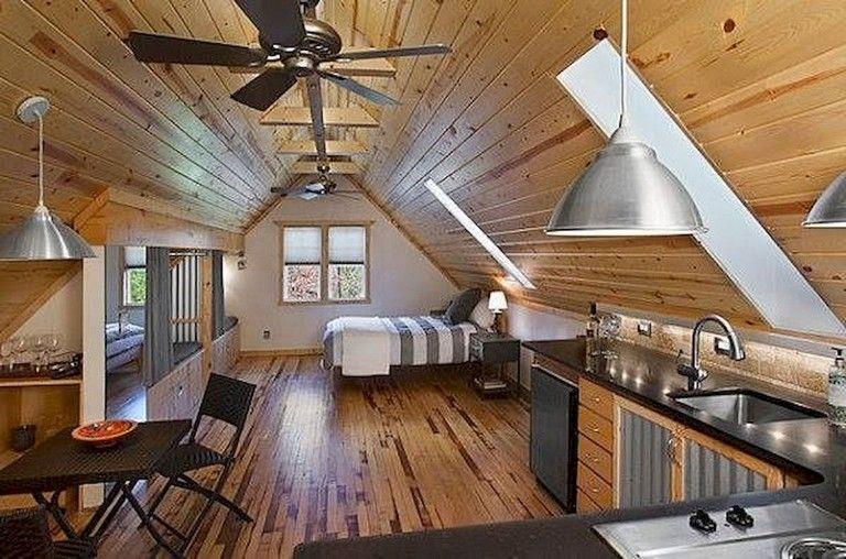 63 Intelgent Studio Apartment Decorating Ideas Garage Apartment Interior Attic Apartment Garage Guest House