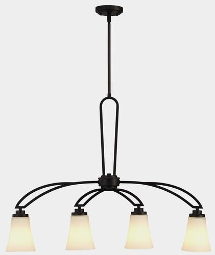 Aodi 4 light 35 oil rubbed bronze chandelier island light at menards