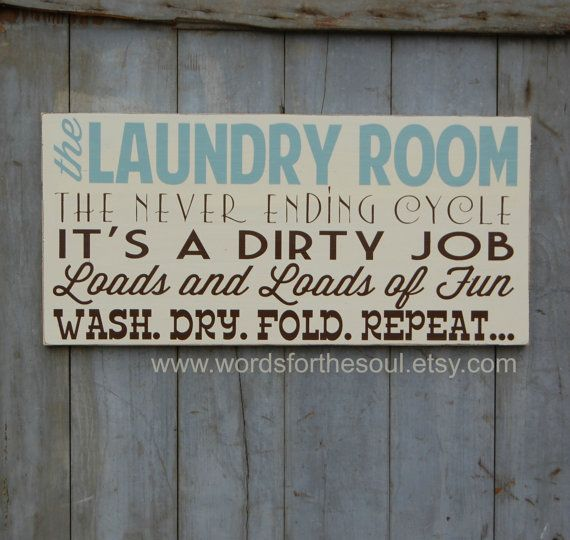 Laundry Room Rules Sign Laundromat Typography Subway Art Wood by WordsForTheSoul
