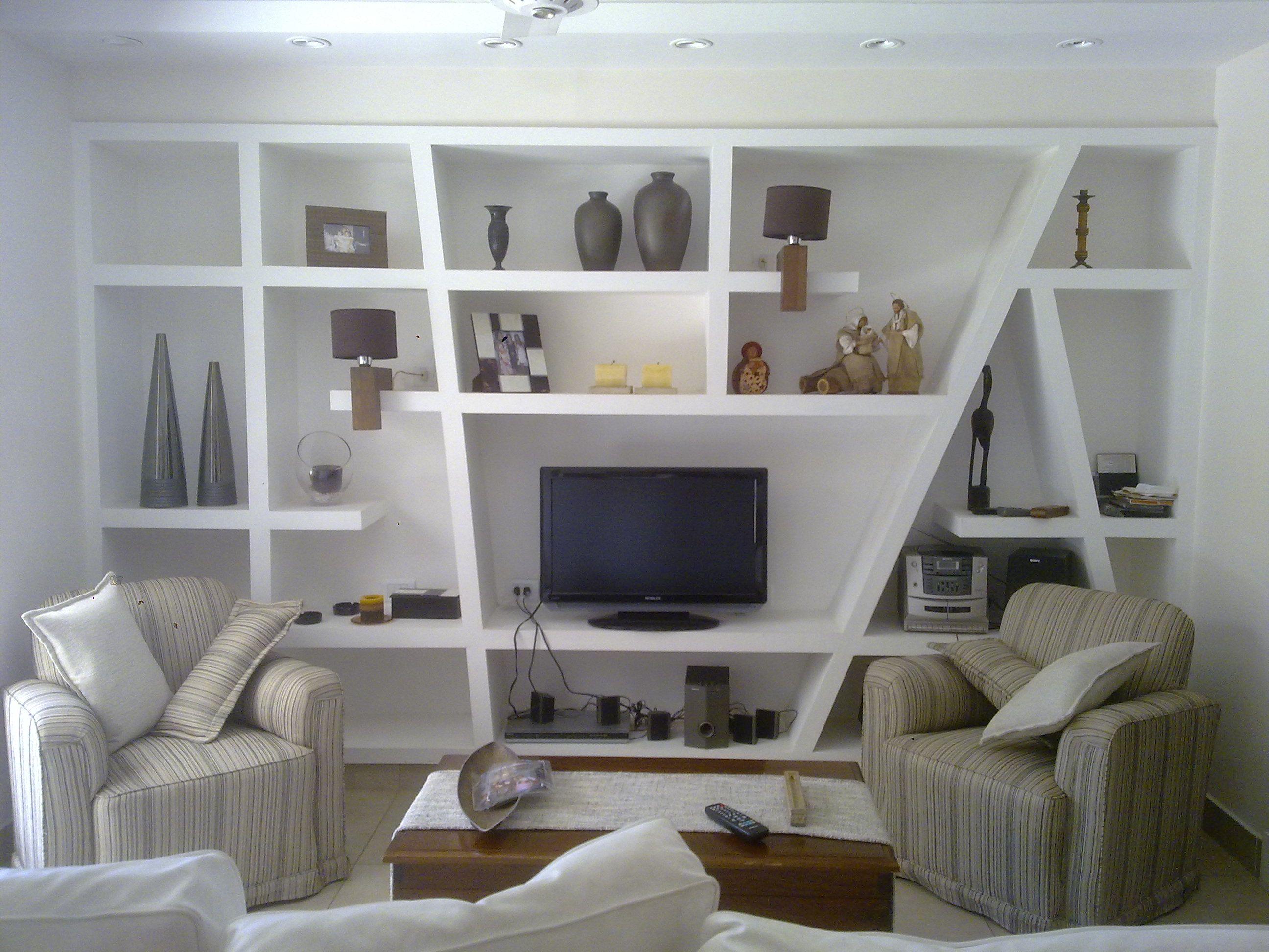 Resultado de imagen para muebles con durlock family room for Muebles de oficina iman