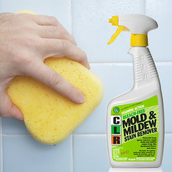 CLR Mold & Mildew Stain Remover is a powerful bleach free formula