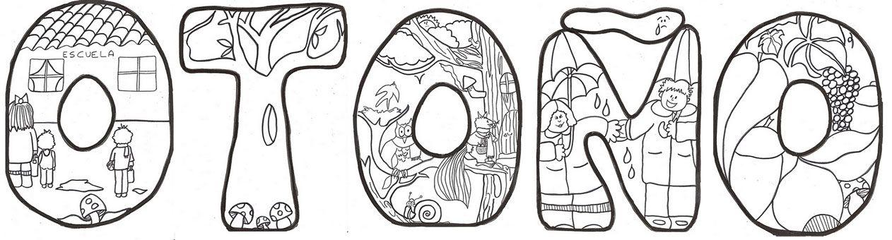 Dibujos de Otoño para colorear e imprimir gratis | Carátulas ...