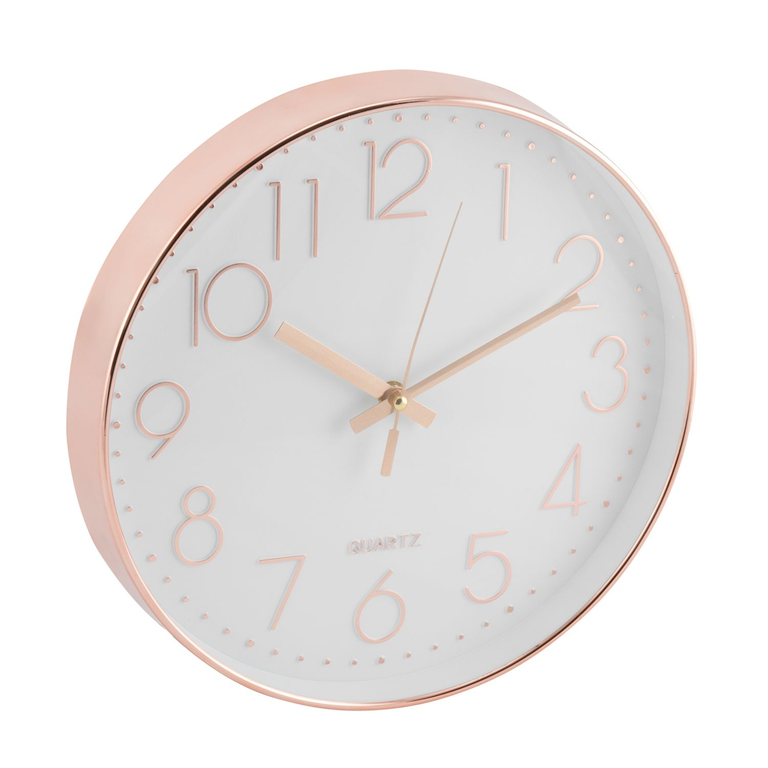 16 Rose Gold And Copper Details For Stylish Interior Decor: Copper Wall Clock