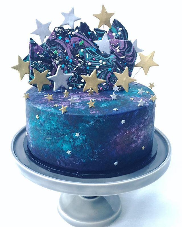 A Galaxy Themed Cake For The Opening Of The Craft Parlour