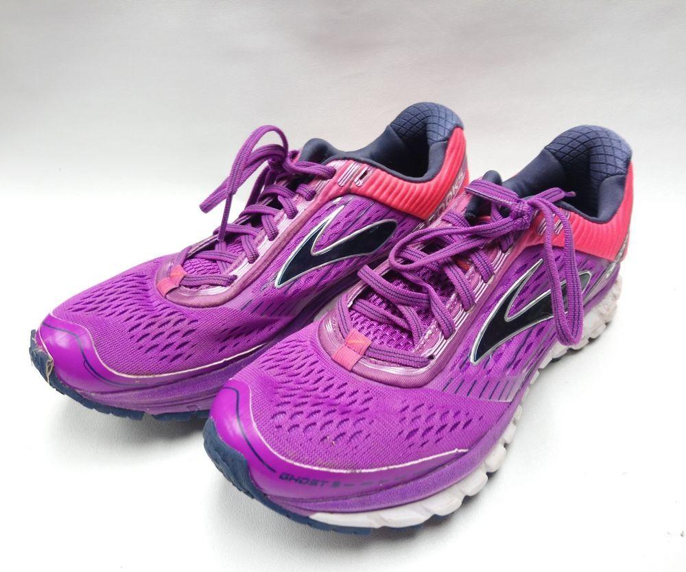 6eb4553abf5 Brooks Ghost 9 Sneaker Women s Size 10 Purple Cactus Diva Pink ...