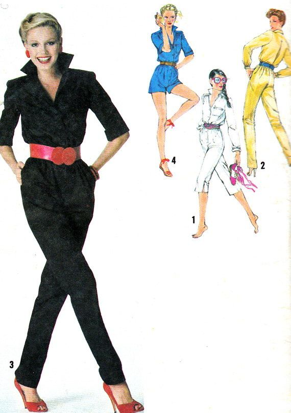 1970s Womens Jumpsuit Pattern Simplicity 9226 Rockabilly Long or ...