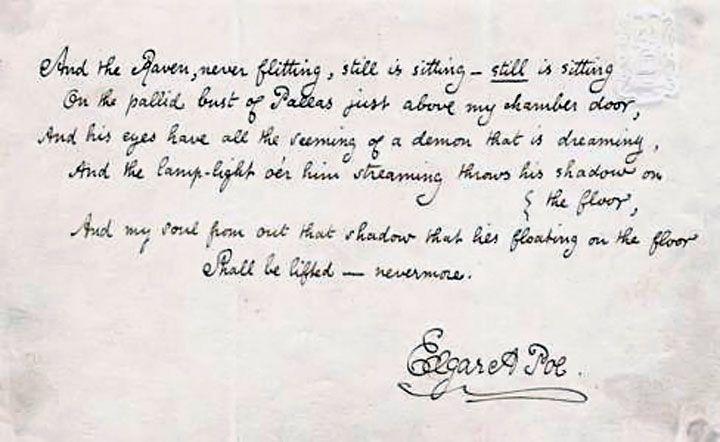 edgar allan poe manuscrito mama edgar allan the raven edgar allan poe essay edgar allan poe the raven
